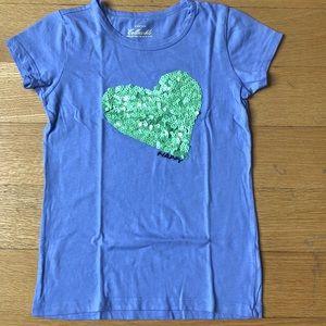 J. Crew (Crewcuts) heart t-shirt